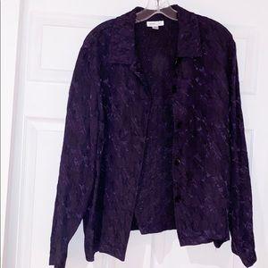 ❤️10/$30 Coldwater creek purple jacket blazer